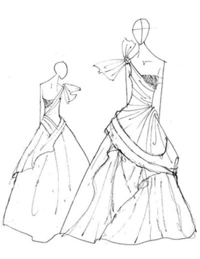 Эскизы платьев на выпускной